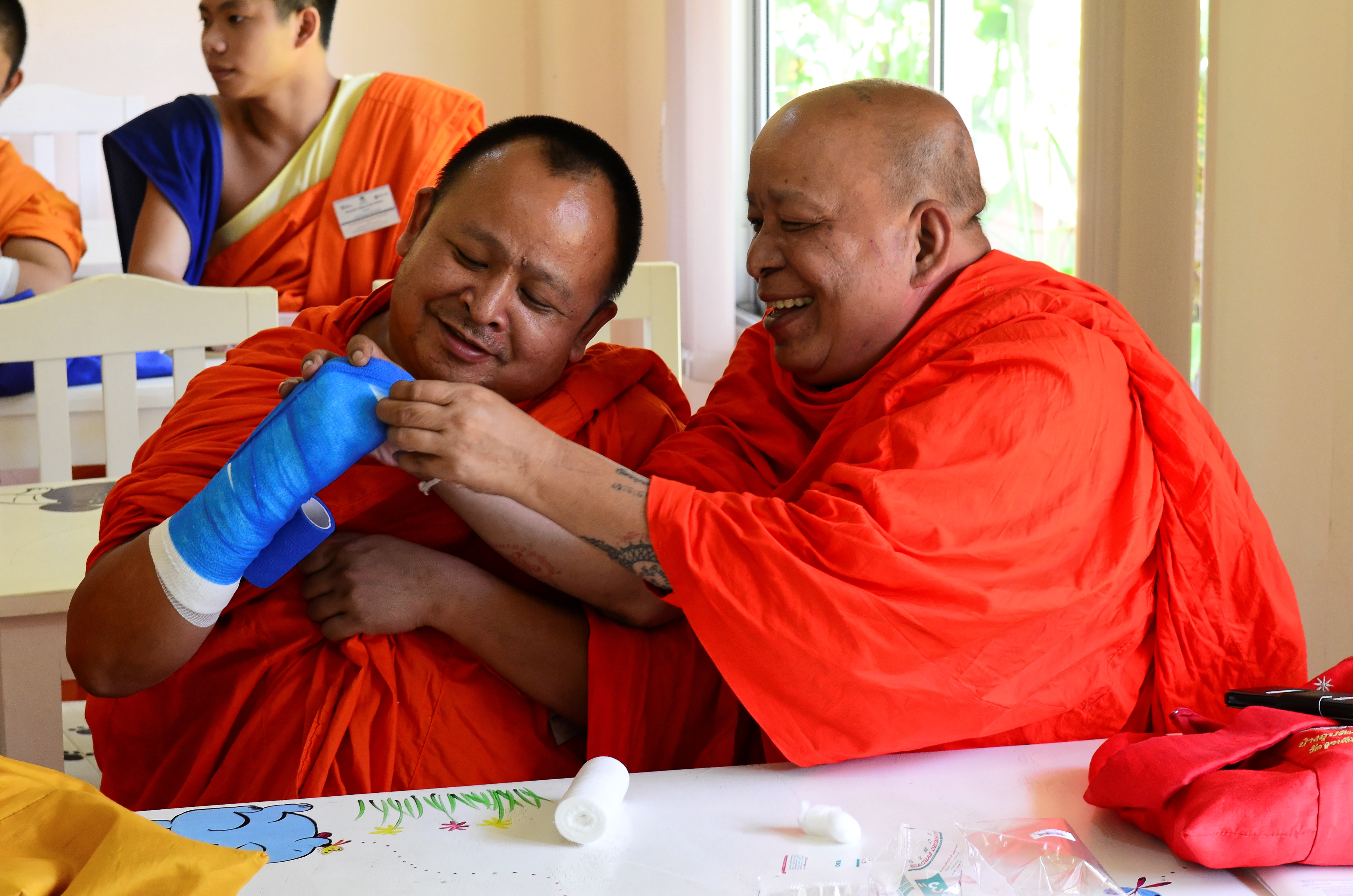 Animal welfare and care training for monks